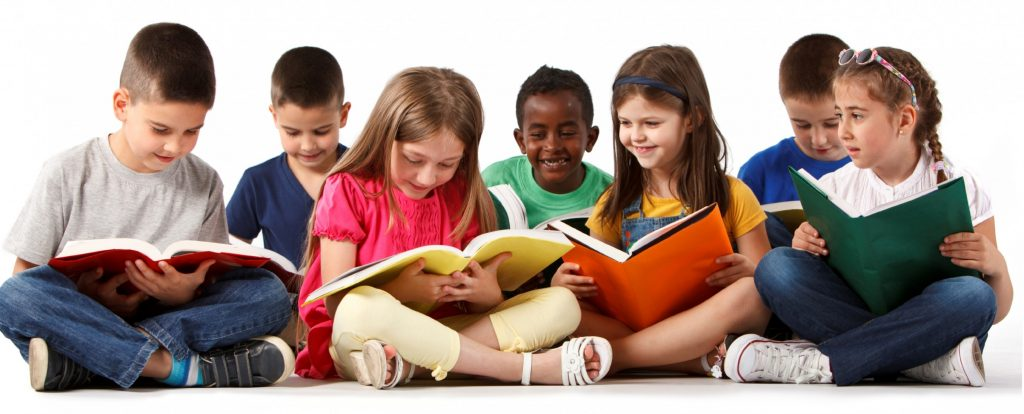 kids-Reading-Books-group