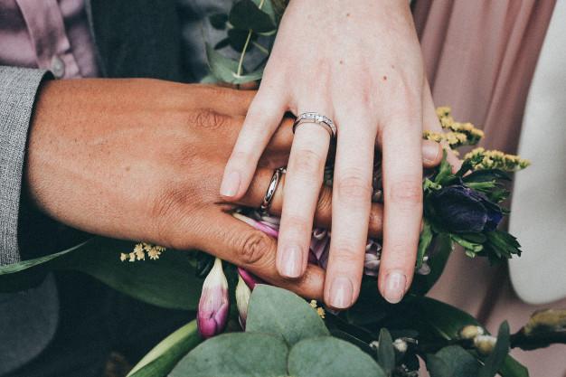 Βέρες γάμου ενός ζεύγους
