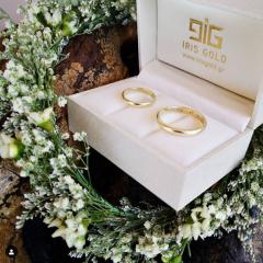 Οι βέρες του γάμου της Ανθής Βούλγαρη από την Iris Gold & Jewel Stories